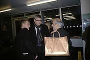 Tim Marlow, Jay Jopling and Alan Yentob, Gilbert and George Major Exhibition. Tate Modern. Afterwards dinner at Christchurch Spitafields. London. 13 February 2007.  -DO NOT ARCHIVE-© Copyright Photograph by Dafydd Jones. 248 Clapham Rd. London SW9 0PZ. Tel 0207 820 0771. www.dafjones.com.
