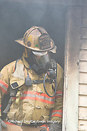 63818-02408 Firefighter at structure fire, Effingham Co., IL
