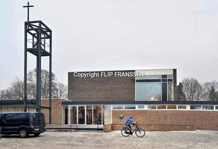 Nederland, Vredepeel, 31-1-2019Repo over de lokale kerk die door het dorp omgebouwd is tot kleinere kerk annex dorpshuis met  multifunctionele zaal en ontmoetingsruimte.Foto: Flip Franssen
