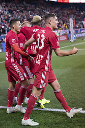 STYLEPREPENDAaron Long (33) of Red Bulls celebrates scoring goal during 2nd leg MLS Cup Eastern Conference semifinal game against Columbus Crew SC at Red Bul Arena Red Bulls won 3 - 0 agregate 3 - 1 and progessed to final  (Credit Image: © Lev Radin/Pacific Press via ZUMA Wire)