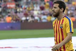 August 20, 2017 - Barcelona, Catalonia, Spain - Leo Messi during the spanish league match between the FC Barcelona and the Real Betis in the Camp Nou Stadium in Barcelona, Spain on August 20, 2017  (Credit Image: © Miquel Llop/NurPhoto via ZUMA Press)