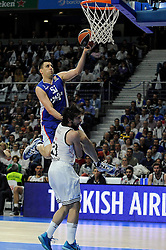 15.04.2015, Palacio de los Deportes stadium, Madrid, ESP, Euroleague Basketball, Real Madrid vs Anadolu Efes Istanbul, Playoffs, im Bild Real Madrid´s Sergio Llull and Anadolu Efes´s Milko Bjelica // during the Turkish Airlines Euroleague Basketball 1st final match between Real Madrid vand Anadolu Efes Istanbul t the Palacio de los Deportes stadium in Madrid, Spain on 2015/04/15. EXPA Pictures © 2015, PhotoCredit: EXPA/ Alterphotos/ Luis Fernandez<br /> <br /> *****ATTENTION - OUT of ESP, SUI*****