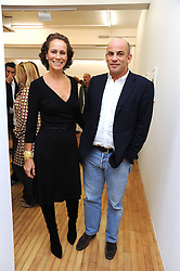 GUY & ANDREA DELLAL at the inaugural exhibition at the Yvon Lambert London Gallery featuring work ny Mexican born artist Carlos Amorales, 20 Hoxton Square, London N1 on 16th October 2008.