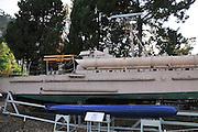 Israel, Haifa, The Clandestine Immigration and Navy Museum. Torpedo boat