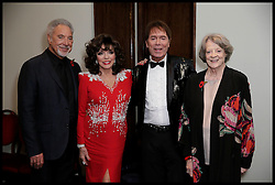 October 31, 2016 - London, United Kingdom - Image ©Licensed to i-Images Picture Agency. 31/10/2016. London, United Kingdom. Pride of Britain awards..Tom Jones Cliff Richrd Maggie Smith Dame Joan Collins at the Prince's Trust reception at the 2016 Daily Mirror Pride of Britain Awards on Monday 31st October..2016 Pride of Britain at the Grosvenor House Hotel, centre London, 31 October 2016...Picture by  i-Images / Pool (Credit Image: © i-Images via ZUMA Wire)