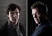 Actors Benedict Cumberbatch and Hugh Laurie
