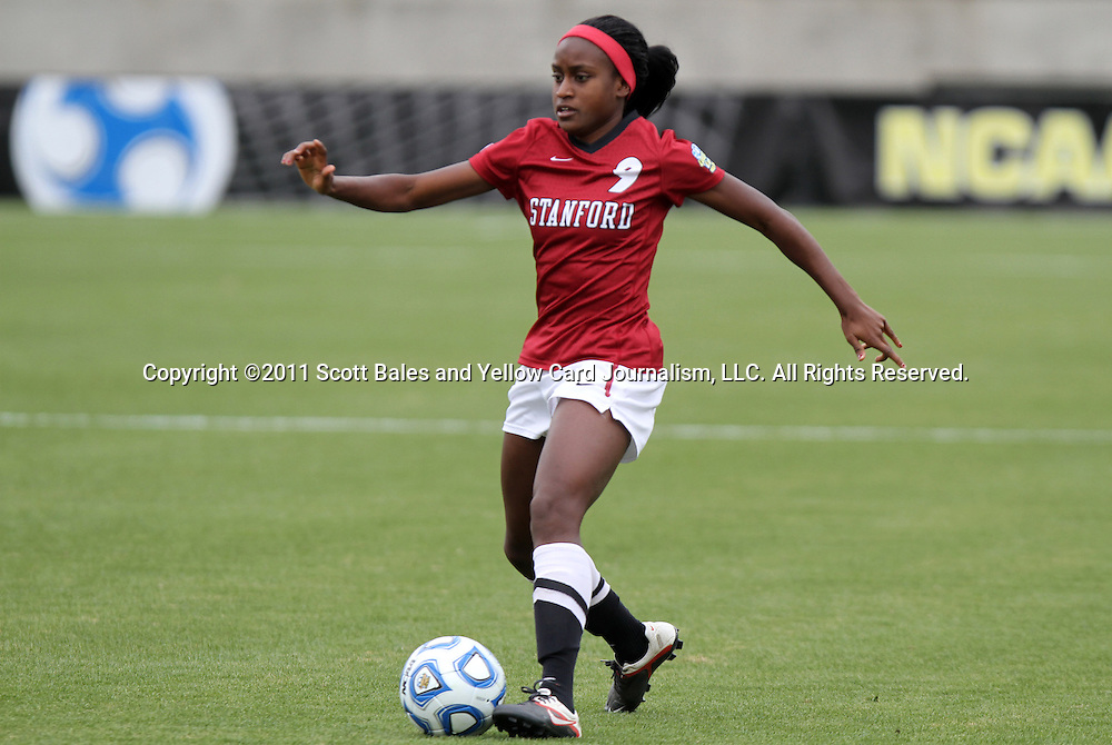 04 December 2011: Stanford's Chioma Ubogagu. The Stanford University Cardinal defeated the Duke University Blue Devils 1-0 at KSU Soccer Stadium in Kennesaw, Georgia in the NCAA Division I Women's Soccer College Cup Final.