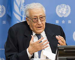 May 9, 2017 - New York, NY, U.S - Mr. LAKHDAR BRAHIMI, former Joint Arab League-UN Special Representative for Syria and member of the United nations Representatives of the Elders, at the United Nations on May 9, 2017 (Credit Image: © Michael Brochstein via ZUMA Wire)