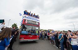 Bristol Rovers Bus arrives at the Memorial Stadium.- Photo mandatory by-line: Alex James/JMP - Mobile: 07966 386802 - 25/05/2015 - SPORT - Football - Bristol - Memorial Stadium -    Bristol Rovers Bus Tour