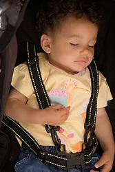 Portrait of a baby girl sleeping,
