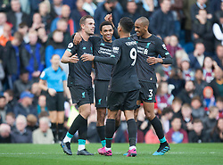 Trent Alexander-Arnold of Liverpool (C) celebrates after scoring his sides first goal - Mandatory by-line: Jack Phillips/JMP - 31/08/2019 - FOOTBALL - Turf Moor - Burnley, England - Burnley v Liverpool - English Premier League