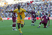 Fotball<br /> Frankrike<br /> 28.05.2005<br /> Foto: Dppi/Digitalsport<br /> NORWAY ONLY<br /> <br /> FC NANTES v FC METZ <br /> <br /> JOY MAMADOU DIALLO (NAN) AFTER HIS GOAL