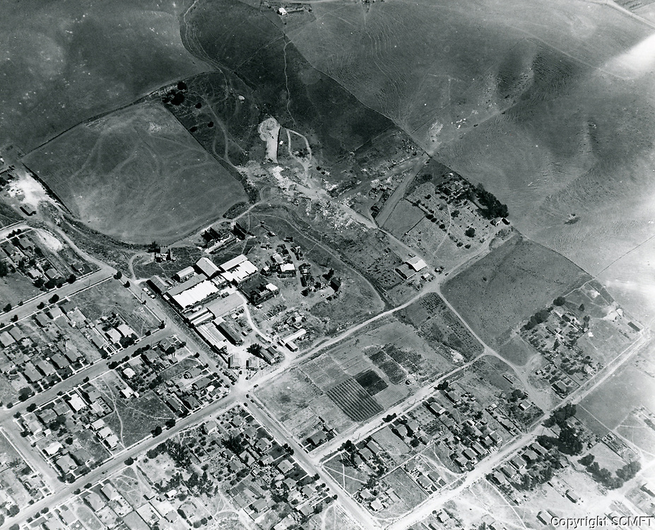 1921 Aerial view of Vitagraph Studio in Hollywood