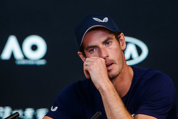 January 12, 2019 - Melbourne, VIC, Australia - Australian Open 2019 -  Andy Murray - England - annonce l'arret de sa carriere pour 2019 (Credit Image: © Panoramic via ZUMA Press)
