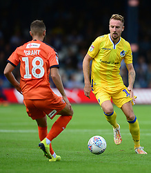 Chris Lines of Bristol Rovers looks to take on Jorge Grant of Luton Town- Mandatory by-line: Alex James/JMP - 15/09/2018 - FOOTBALL - Kenilworth Road - Luton, England - Luton Town v Bristol Rovers - Sky Bet League One