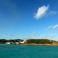Americas, Caribbean, Antigua & Barbuda. Shoreline of Antigua island.