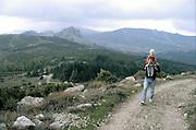 Ketil og Anna, fottur i Monti del Gennargentu, Barbagia, Sardinia..dias Sardinia, Italia.