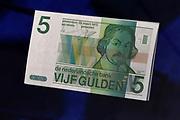 Perspreview 50 jaar Koninklijk Paleis Amsterdam.<br /> <br /> Op de foto: 5  Gulden