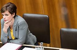 29.03.2017, Parlament, Wien, AUT, Parlament, Nationalratssitzung, Sitzung des Nationalrates mit den Themen Deregulierungsgesetz 2017 und Eurofighter Untersuchungsausschuss, im Bild Bundesministerin für Gesundheit und Frauen Pamela Rendi-Wagner (SPÖ) // Austrian Minister of Health Pamela Rendi-Wagner during meeting of the National Council of austria at austrian parliament in Vienna, Austria on 2017/03/29, EXPA Pictures © 2017, PhotoCredit: EXPA/ Michael Gruber