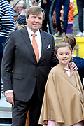 Koningsdag 2017 in Tilburg / Kingsday 2017 in Tilburg<br /> <br /> Op de foto / On the photo: Koning Willem Alexander en  Prinses Ariane / King Willem Alexander and Princess Ariane