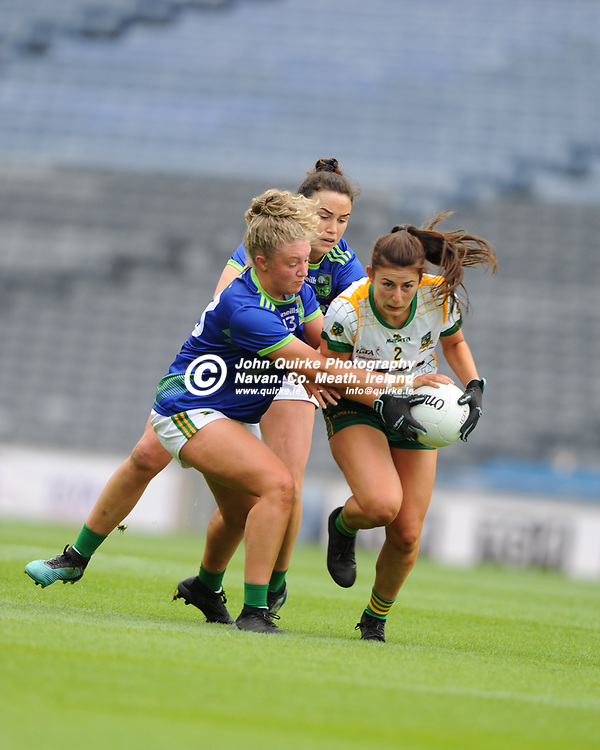 26-06-21. Meath v Kerry - Lidl Ladies National Football League Division 2 Final at Croke Park.<br /> Emma Troy, Meath in action against Niamh Ni Chonchuir Kerry.<br /> Photo: John Quirke / www.quirke.ie<br /> ©John Quirke Photography, 16 Proudstown Road, Navan. Co. Meath. (info@quirke.ie / 046-9028461 / 087-2579454).