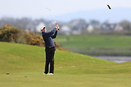 Luke Cunningham (Galway Bay) on the 17th fairway during Round 2 of the Connacht U16 Boys Amateur Open Championship at Galway Bay Golf Club, Oranmore, Galway on Wednesday 17th April 2019.<br /> Picture:  Thos Caffrey / www.golffile.ie