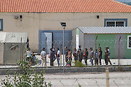 Migrants that have been arrested after crossing into Greece illegally are recorded and detained at Fylakio detention centre in north eastern Greece, near to both the Turkish and Bulgarian borders.