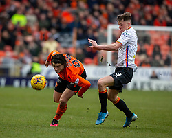 Dundee United's Ian Harkes and Partick Thistle's James Penrice. Dundee United 1 v 1 Partick Thistle, Scottish Championship game played 7/3/2020 at Dundee United's stadium Tannadice Park.