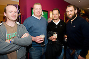 Alan Dalton, Ger Roche, Matt Henderson Oughterard RFC with Connacht Captain John Muldoon at the Guinness Area22 event in the Carlton Hotel Galway.