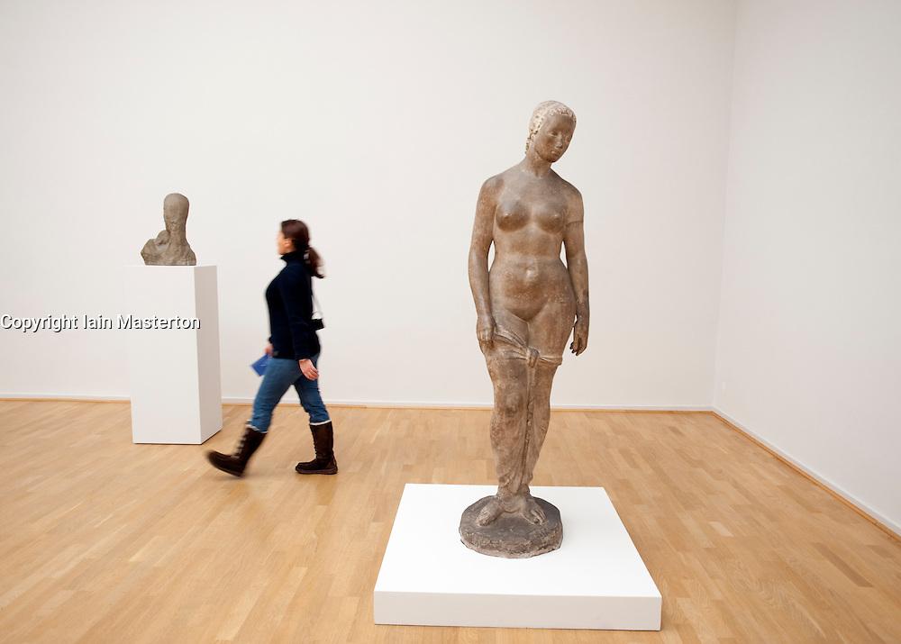 Sculptures in the Kunsthalle art gallery in Hamburg German