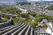 Himeji Castle (AKA White Egret Castle and White Heron Castle) Himeji, Japan View of the city