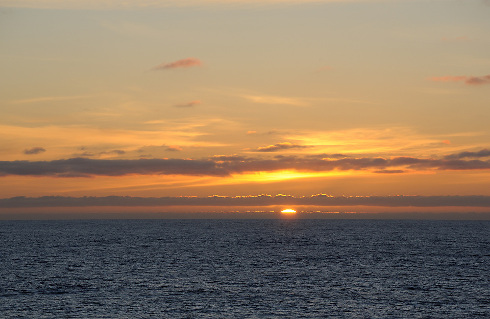 Sunset in the Southern Ocean near the South Orkney Islands. South Orkney Islands. 27Feb16