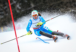 16.02.2013, Planai, Schladming, AUT, FIS Weltmeisterschaften Ski Alpin, Slalom, Damen, 1. Durchgang, im Bild Chiara Costazza (ITA) // Chiara Costazza of Italy in action during 1st run of the Womens Slalom at the FIS Ski World Championships 2013 at the Planai Course, Schladming, Austria on 2013/02/16. EXPA Pictures © 2013, PhotoCredit: EXPA/ Johann Groder