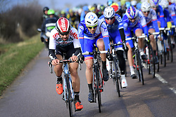 March 7, 2017 - Chalon Sur Saone, France - CHALON-SUR-SAONE, FRANCE - MARCH 7 : DE GENDT Thomas (BEL) Rider of Team Lotto - Soudal is leading the peloton during stage 03 of the 75th edition of the Paris - Nice cycling race, a stage of 190 km with start in Chablis and finish in Chalon-Sur-Saone on March 07, 2017 in Chalon-Sur-Saone, France, 7/03/2017 (Credit Image: © Panoramic via ZUMA Press)