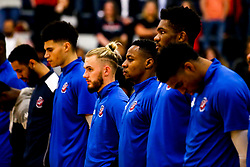 Bristol Flyers line up - Photo mandatory by-line: Robbie Stephenson/JMP - 10/04/2019 - BASKETBALL - UEL Sports Dock - London, England - London Lions v Bristol Flyers - British Basketball League Championship