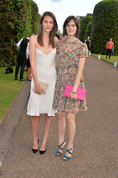 Left to right, CHARLOTTE WIGGINS and SAM ROLLINSON at The Ralph Lauren & Vogue Wimbledon Summer Cocktail Party at The Orangery, Kensington Palace, London on 22nd June 2015.  The event is to celebrate ten years of Ralph Lauren as official outfitter to the Championships, Wimbledon.