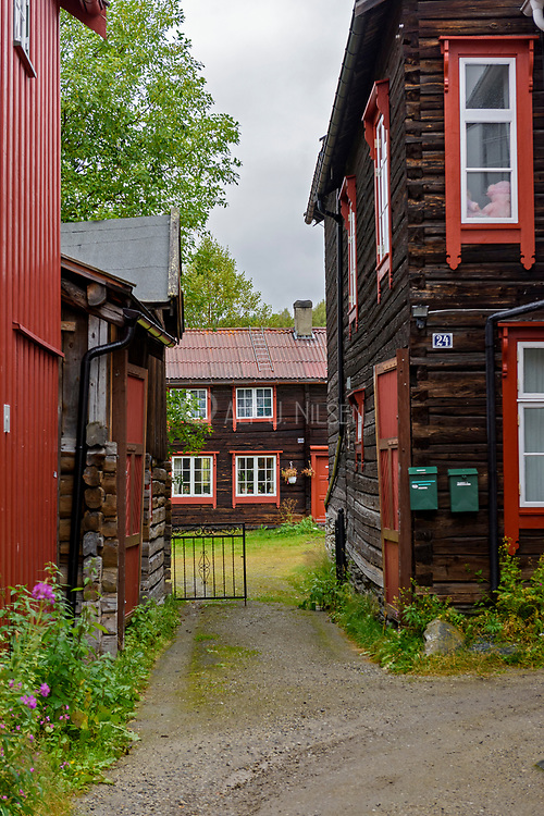Houses in Röros, an UNESCO World Herritage town, in Tröndelag, Norway.