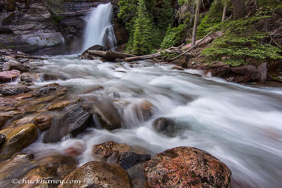 Baring Falls in Glacier National Park, Montana, USA