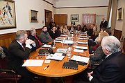 Repro FREE Connemara West's  ambitious International Residential Education Centre at a briefing in the Hotel Meyrick, Galway . The Centre, in the village of Tullycross, County Galway will consist of a state-of-art newly built education hub with a 50 seat auditorium; a wifi-enabled library; group study/breakout rooms; video conferencing facilities; meeting rooms; a conference room; community meeting rooms and a coffee dock. <br /> The accommodation part of the Centre will be made up of the renovated iconic 9 thatched cottages in Tullycross village, Connemara West's first project in 1973, and will hold up to 40 students and faculty.<br /> Photo:Andrew Downes, xposure