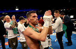 Angel Moreno after losing to Charlie Edwards in their World Boxing Council World Flyweight Title bout at the Copper Box Arena, London.