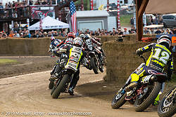 AMA Flat track racing at the Sturgis Buffalo Chip during the Sturgis Black Hills Motorcycle Rally. Sturgis, SD, USA. Sunday, August 4, 2019. Photography ©2019 Michael Lichter.