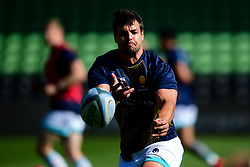 Francois Venter of Worcester Warriors warms up prior to kick off - Mandatory by-line: Ryan Hiscott/JMP - 13/09/2020 - RUGBY - Twickenham Stoop - London, England - London Irish v Worcester Warriors - Gallagher Premiership Rugby