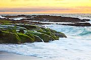 Victoria Beach At Sunset In Laguna Beach California