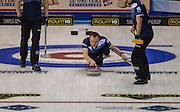 "Glasgow. SCOTLAND.  Scotland Men's ""Skip"" Tom BREWSTER,  ""Round Robin"" Games. Le Gruyère European Curling Championships. 2016 Venue, Braehead  Scotland<br /> Monday  21/11/2016<br /> <br /> [Mandatory Credit; Peter Spurrier/Intersport-images]"