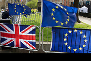 Anti Brexit pro Europe demonstration in Westminster on 26th March 2019 in London, England, United Kingdom. With the date of the UK leaving the European Union extended, the pro EU protest continues as MPs from all sides try to gain control of the process.