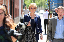 © Licensed to London News Pictures. 23/05/2019. London, UK. Former Leader of the House of Commons Andrea Leadsom leaves her Westminster home. She has resigned  from the government on the grounds that she cannot support proposed changes to the Withdrawal Agreement Bill. Photo credit: Rob Pinney/LNP