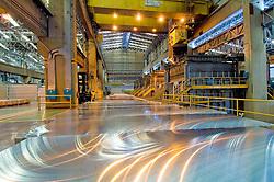 lamina de aluminio em uma fabrica de reciclagem / sheet of aluminium at a industry