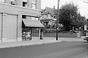 1003-07.  Rejuvination Hardware in the Gurlington Building, corner of N. Mississippi & Skidmore, Palmer House in background, September 1991.