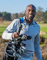 ARNHEM - Atleet Churandy Martina , sprinter, op de Edese golfbaan, Churandy is een enthousiast golfer.  COPYRIGHT KOEN SUYK