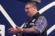 Gary Anderson during the William Hill World Darts Championship Semi-Finals at Alexandra Palace, London, United Kingdom on 2 January 2021.